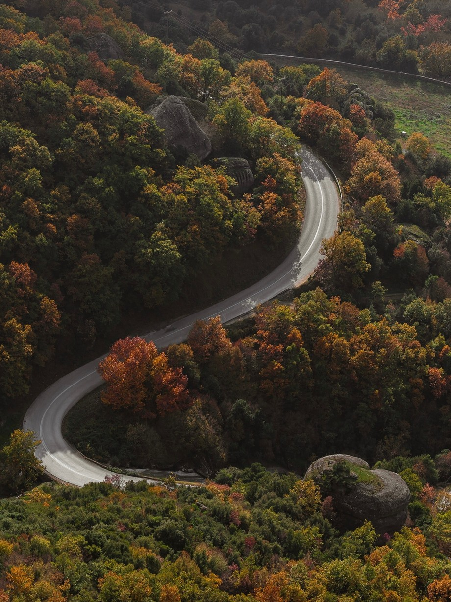 Curvy roads up to a greek monastery  by Stefan_Andre - A Road Trip Photo Contest