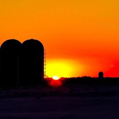 Sunsets at the Washington County Grasslands can be spectacular.  #sunset #washingtoncountygrasslands #settingsun #lastlight #wander #farmland #silos #skiesonfire #canon_photos #canonwhatelse #canonglobal #got_greatshots #marvelouz_world #ethereal_moods #o