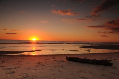sunset at Haurvig beach- Danmark