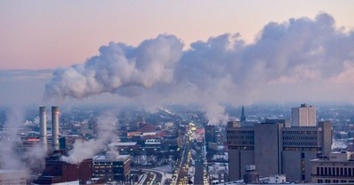 Industry in Detroit. Super cold day!