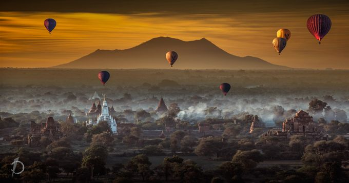 Morning at Bagan Myanmar by kenvinpinardy - Show Balloons Photo Contest