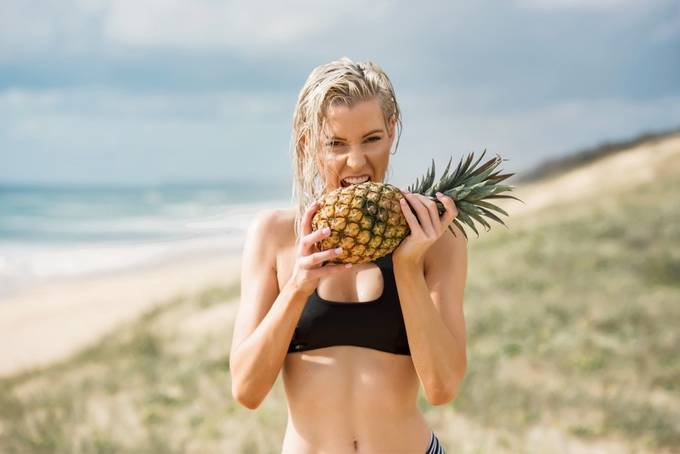 A girl and a pineapple by EeVeePhotography - We Love The Summer Photo Contest