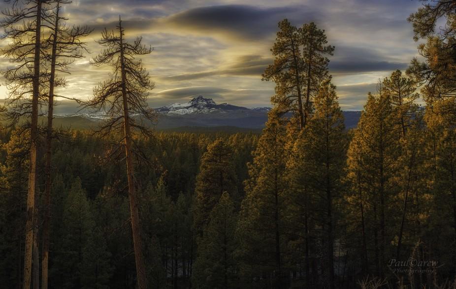 Sunset in the Mount Jefferson Wilderness, in Jefferson County, Oregon