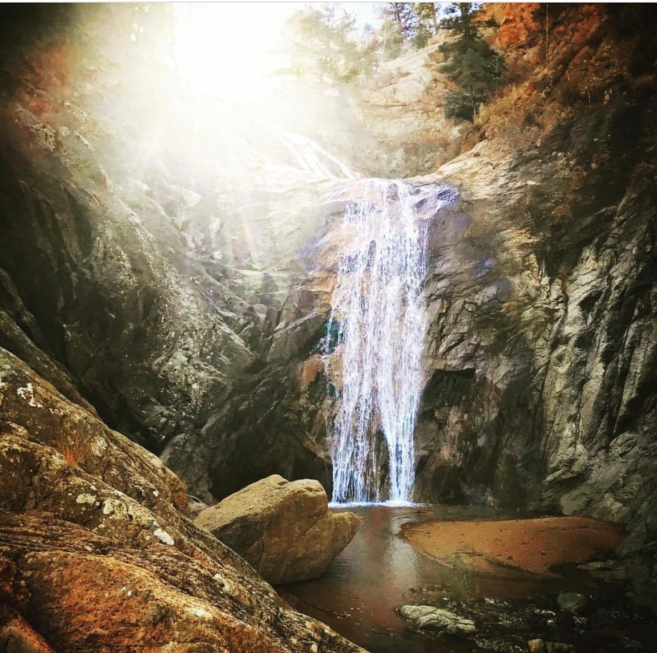 Hiking up Seven Falls in Colorado Springs we found complete solice in this waterfall. We had it a...