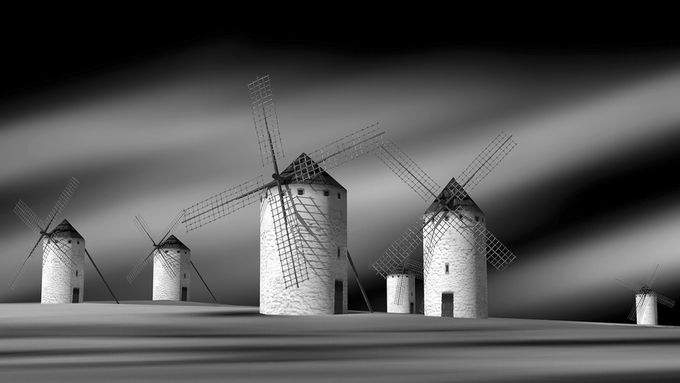 The old Windmills by antonb - Windmills Photo Contest