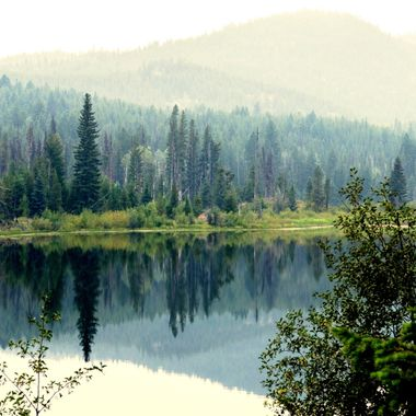 A shot of Davis Lake when the smoke from the fires was quit intense.