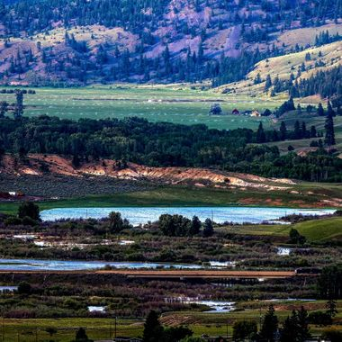 Hayfields on the Chutter Ranch near Merritt