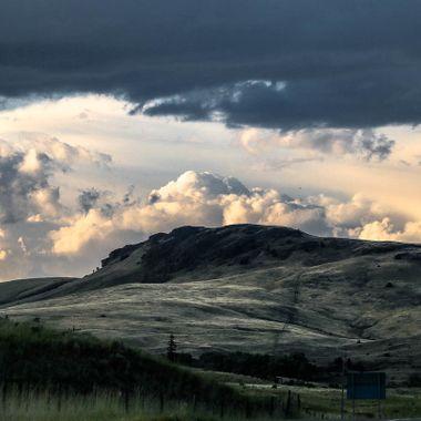 The grasslands between Merritt and Kamloops.