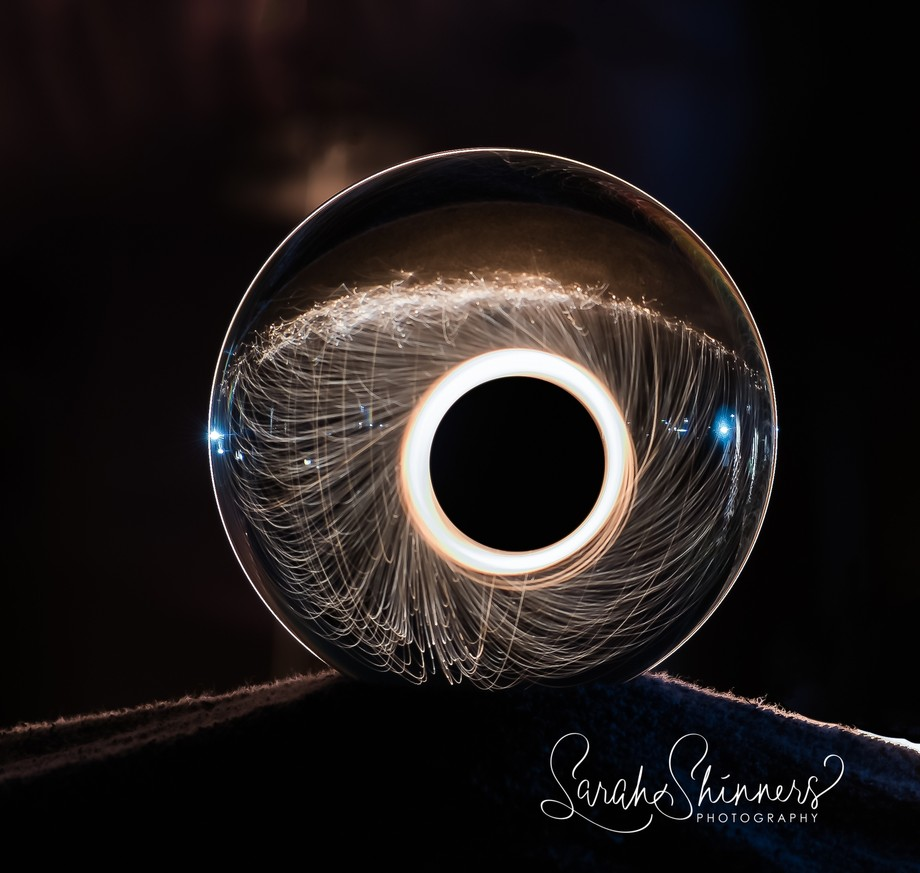 I combined steel Wool Photography with My crystal ball