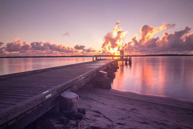 Military Jetty Golden Beach by YureJPhotography - Pastel Colors Photo Contest