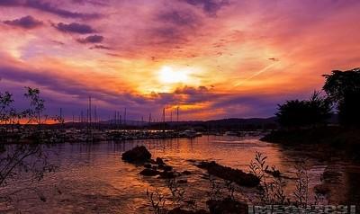 Sunrise swept storm clouds