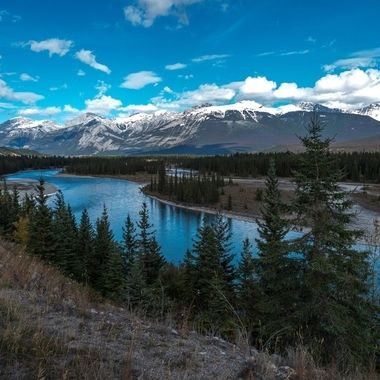 A scene along the Highway near Jasper Alberta