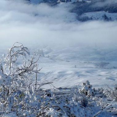 A winter scene at Merritt British Columbia