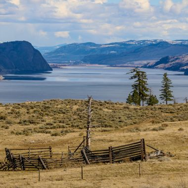 Kamloops Lake from the viewpoint Near Savona B C