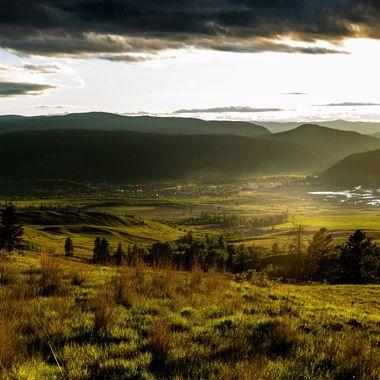 An evening sunset shot of Merritt B C