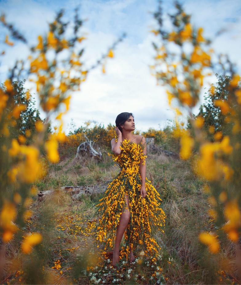 Flower dress I made out of real flowers.  by jsmiley - Fashion Statement Photo Contest