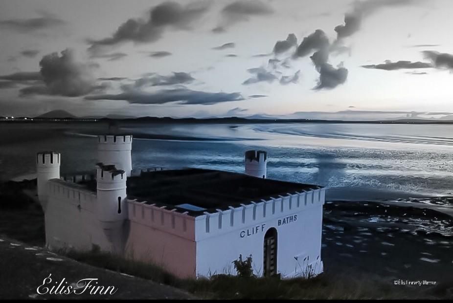Cliff Baths.  Inishcrone. Co Sligo.  Dusk.