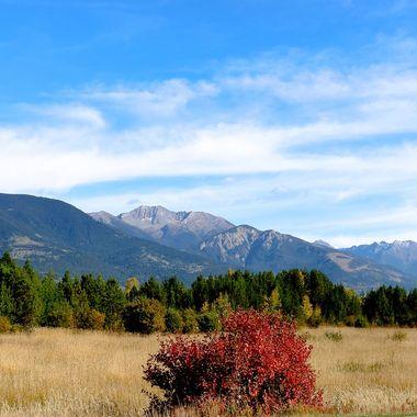 The Rockies around Valemont B C