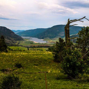 Nicola Lake from Swakum Mountain