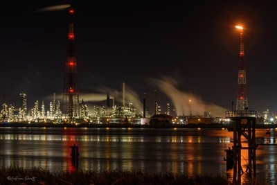 Petrochemical industry at the port of Antwerp