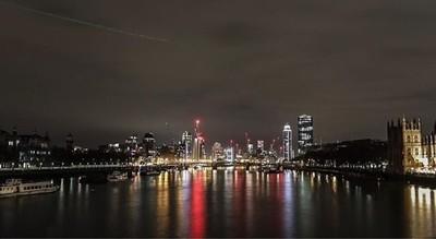 City lights reflection long exposure - Westminster bridge, London