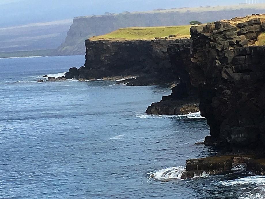 On the coast of The Big Island Hawaii. Driving to see Kilauea Volcano.