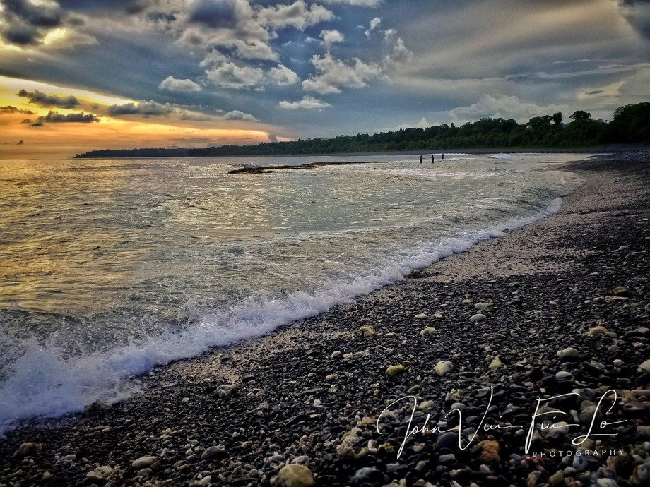 Sunset At Lau Beach, East New Britain,PNG