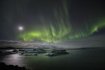 Aurora at Glacier Lagoon