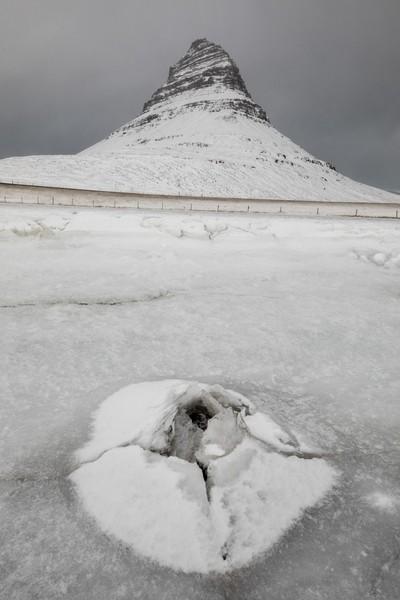 Kirkjufell at wintertime