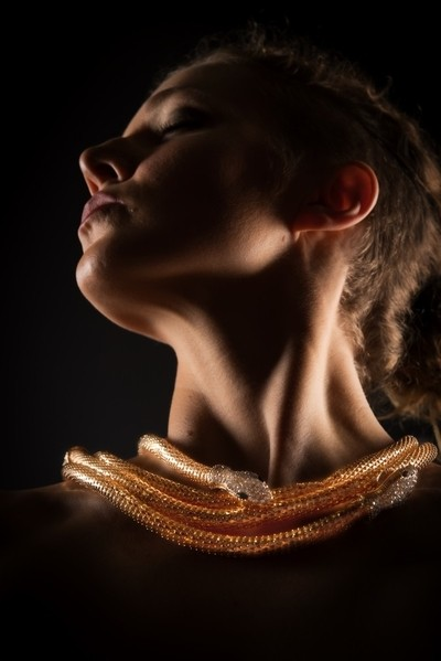 Gold Snake Glowing Neckless   #026 of 365