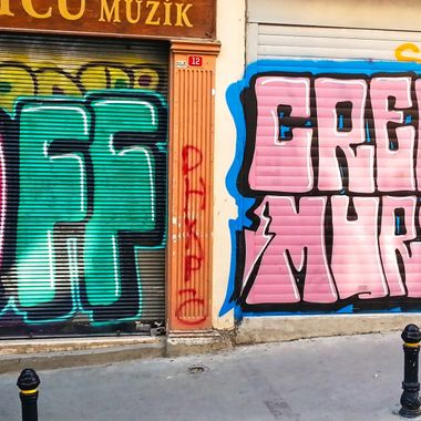 This photo was taken when me and family were in Istanbul, in the year 2013. I saw this street art near Istiklal Avenue and this is one of the photos that I took that day.