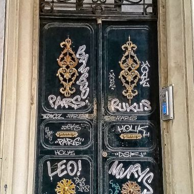 This photo was taken when me and family were in Istanbul, in the year 2015. I saw this door with all kinds of decortive writing on it, near Galata Tower and this was one of the photos that I took that day.