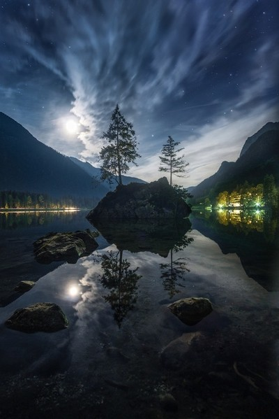 Hintersee night
