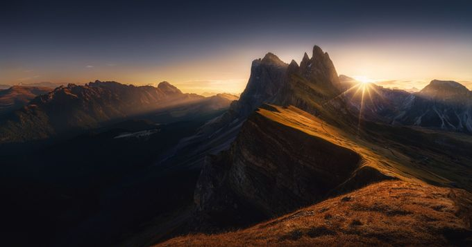Seceda sunrise large by kaihornung - Rural Vistas Photo Contest