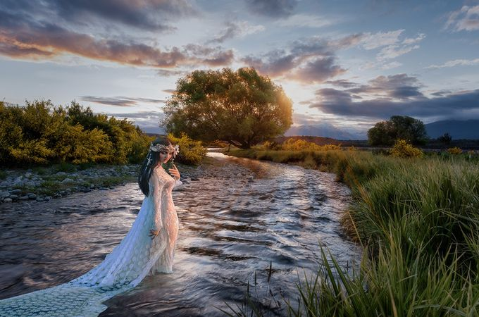 The lady in the brook by jamiemacisaac - Weddings And Fashion Photo Contest