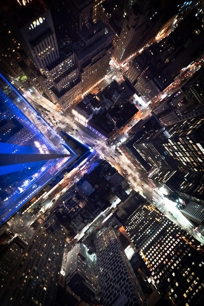 Looking down in New York City