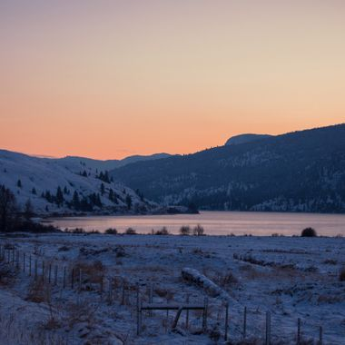 Nicola Lake in the evening