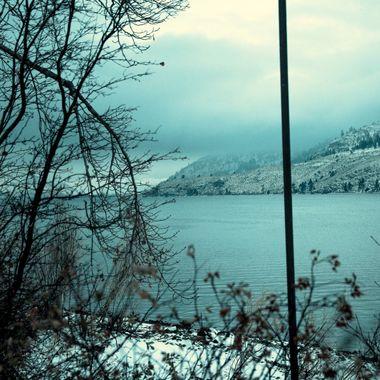 Nicola Lake on a foggy day