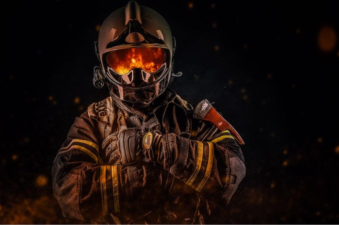 Firefighter by Andreas_Voigt - People At Night Photo Contest