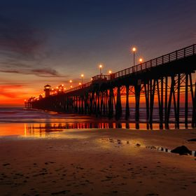 While visiting family in Oceanside, CA we stopped at the Oceanside pier as the sun setting. It was absolutely gorgeous so I had to stop and take ...
