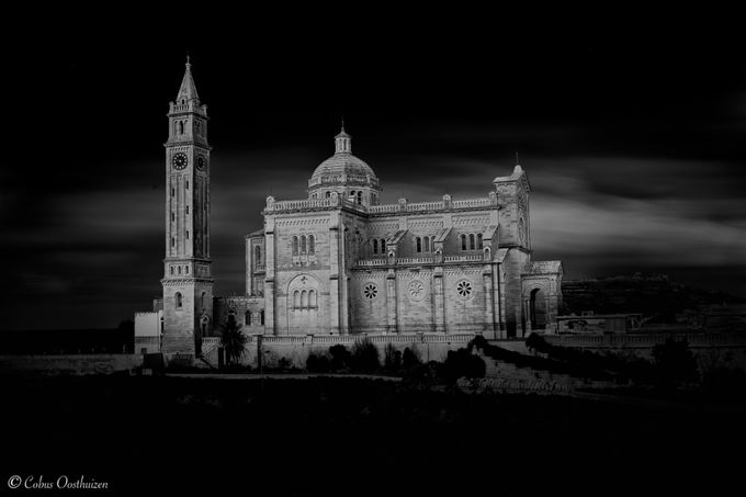 Ta'  Pinu by CobusOosthuizen - Black And White Compositions Photo Contest vol2