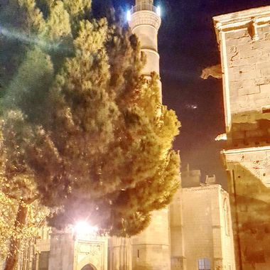 I took this photo when me and my wife were in Nicosia (Lefkosa) in the evening,  towards the end of December, 2017. We were walking in the city walls and when we came to the Selimiye Mosque. This was one of the photos that I took that day.