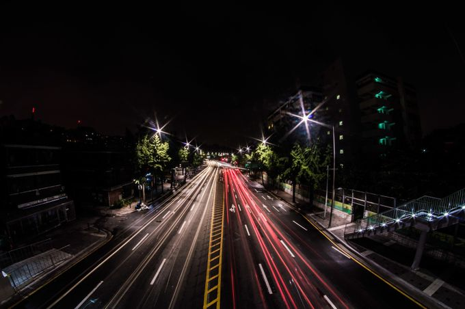 light trails by aquirosc - My City Photo Contest