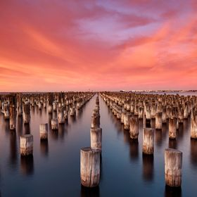 One of the most stunning and easy to get to locations in Melbourne.  I was lucky enough to be there when the sky erupted on a very cold Melbourne...