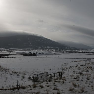 Typical winter day in the Nicola Valley