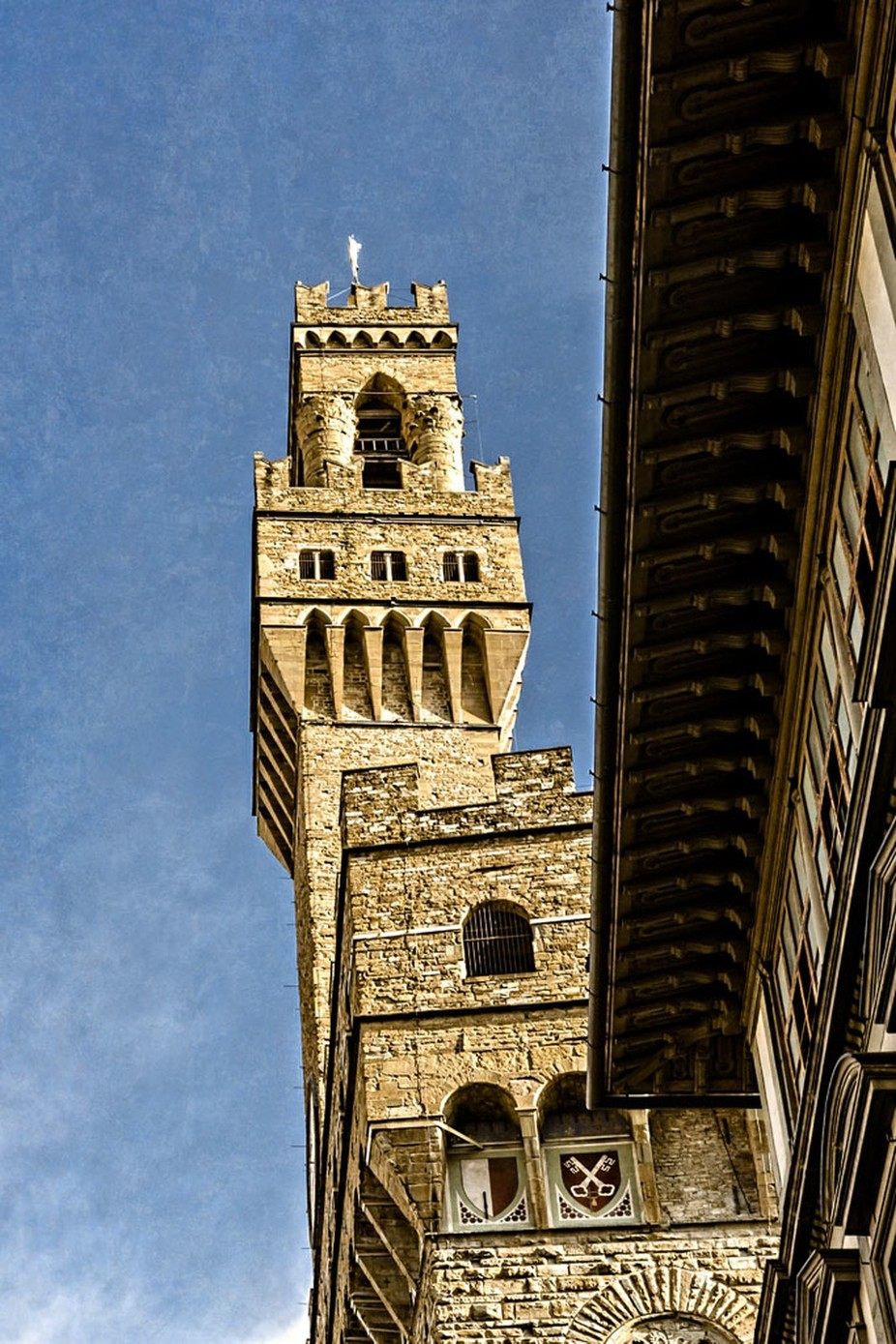 The Tower of the Palazzo Vecchio, in Florence, Italy