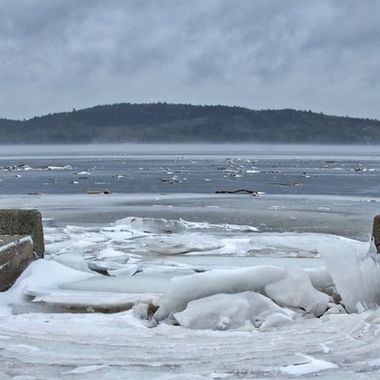 Public Landing Wharf, NB, Canada in late January.