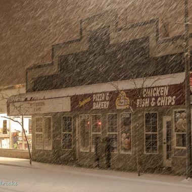 A snowstorm in Merritt B C