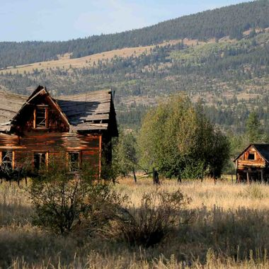 A old house and shed near Merritt British Columbia