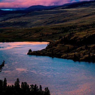 An evening shot of Nicola Lake British Columbia.